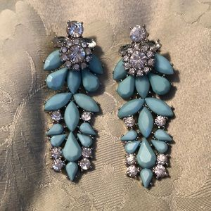 Jewelry - NWOT turquoise and clear crystal earrings